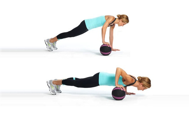 Roll The-Ball - Uneven Push-Up