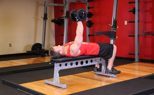 One-Arm Push Press With Dumbbell