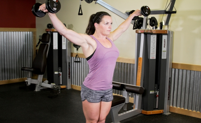 Lateral Deltoid Dumbbell Raise