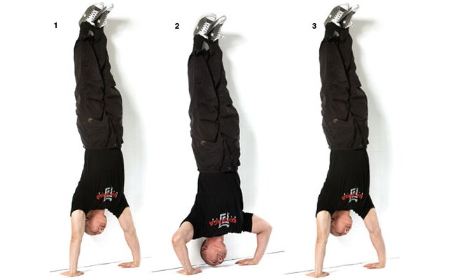 Hand stands push-ups