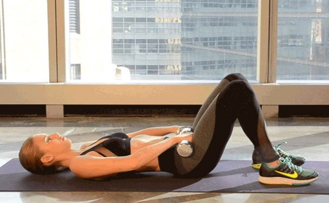 Hip Crust With Dumbbells