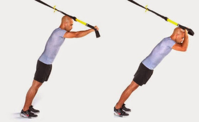 TRX Modified Kneeling Triceps Press
