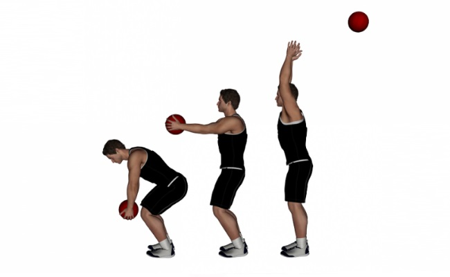 Overhead Throw Using Medicine Ball