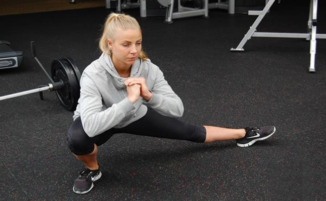 Weighted Cossack Squat