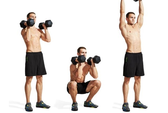 Squats With Dumbbell press