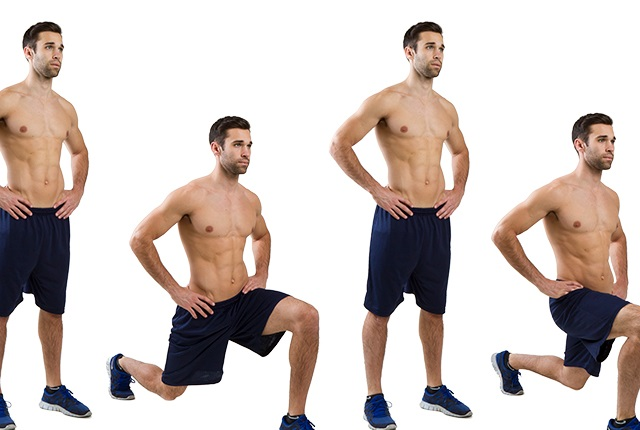Lunges help a lot