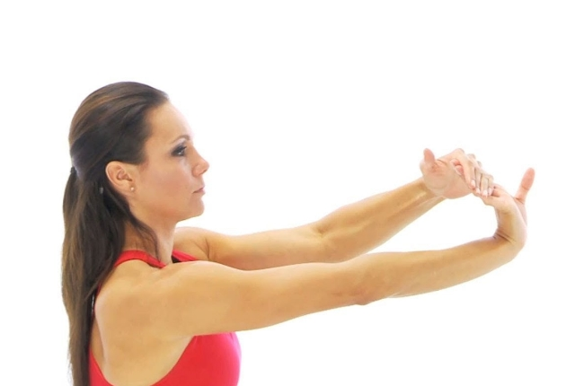 Standing Wrist Flexor Stretch