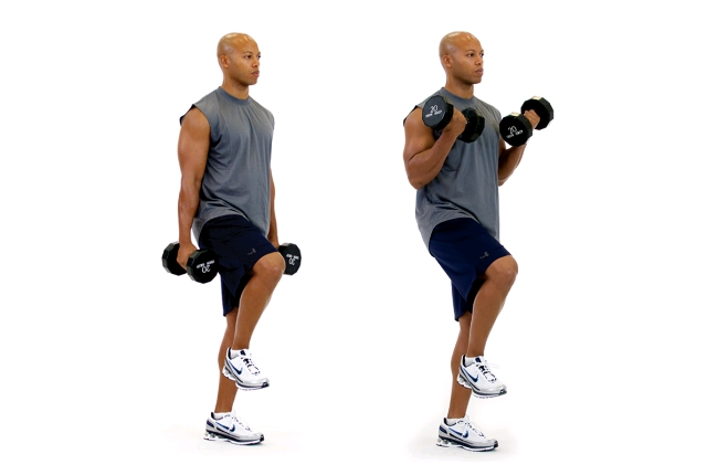 One Leg Dumbbell Lift