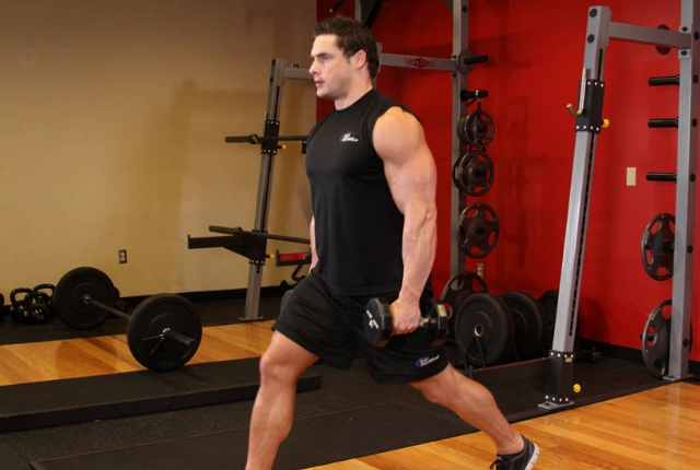 Simple Lunges With Dumbbells