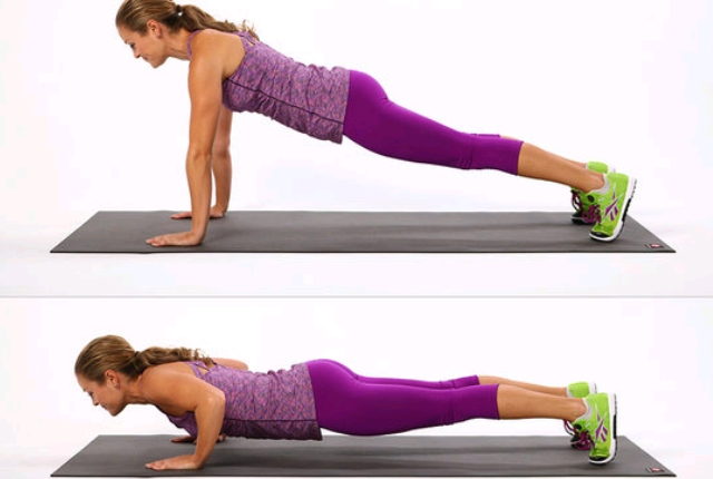Incline Push Ups: