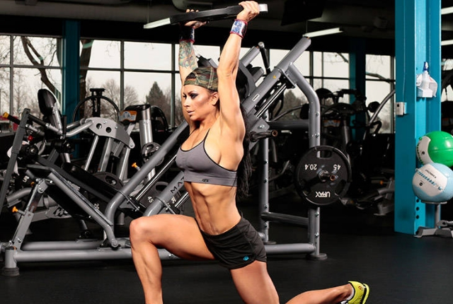 Weighted Lunges: