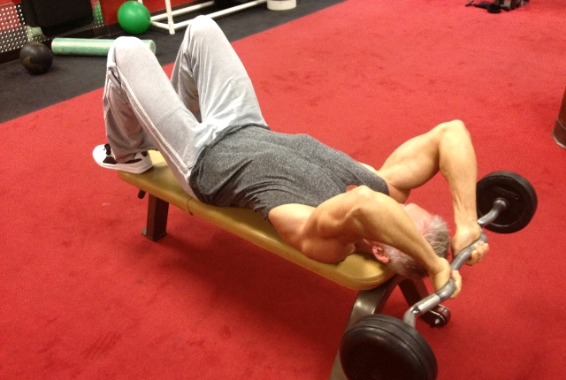 Barbell Triceps Extension Seated: