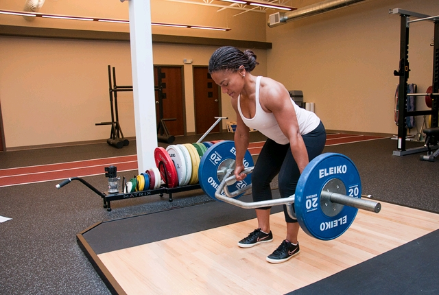 Hex Bar Deadlift: