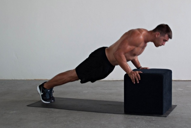 Inclined Pushups