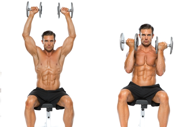 Seated Dumbbell Raise