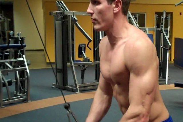 Dumbbell Alternate Bicep Curl And Triceps Pushdown