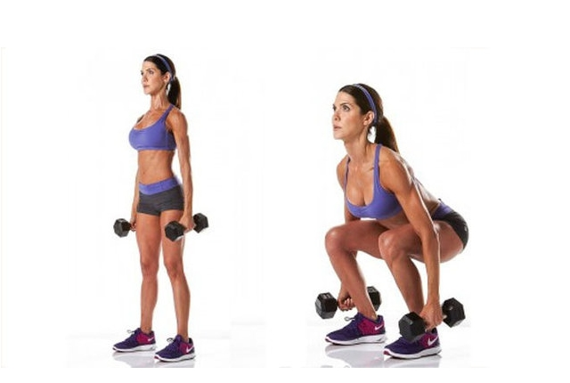 Dumbbell Squatting