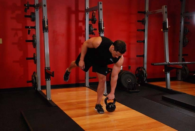 One Legged Kettlebell Exercise
