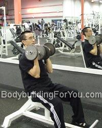 Seated Dumbbell Press Dumbbell Arnold Press Exercises