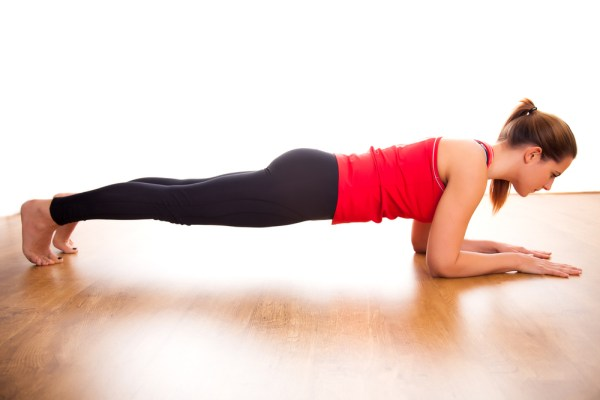 Follow-up with a planking routine.