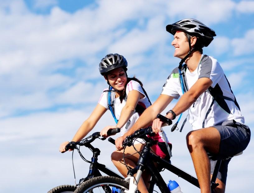 biking with friends