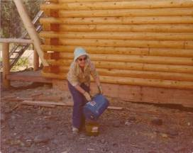 Pastor Alice working on Building 1