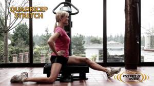 quad stretch on the Power Vibe WBV machine