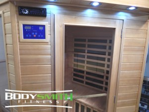 Control Panel of a BodySmith Far Infrared Sauna