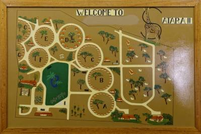 Übersichtskarte über das Satara Camp (Kruger NP)