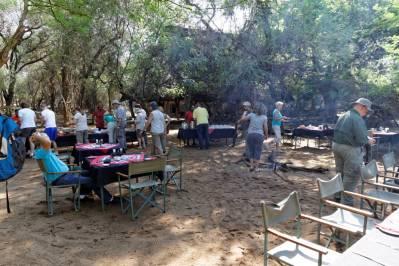 Frühstück im Mkhaya Stone Camp (Mkhaya Game Reserve, Swaziland)