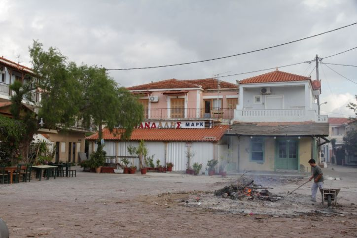 Osterfeuer in Skala Kallonís