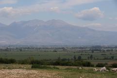 Ebene und Berge