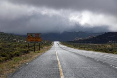 Straße im Regen
