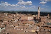 Blick auf den Marktplatz von Siena