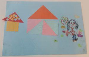 knutselen tangramkat