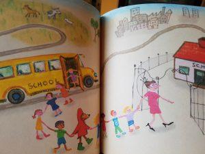 prentenboek fred het hert naar school