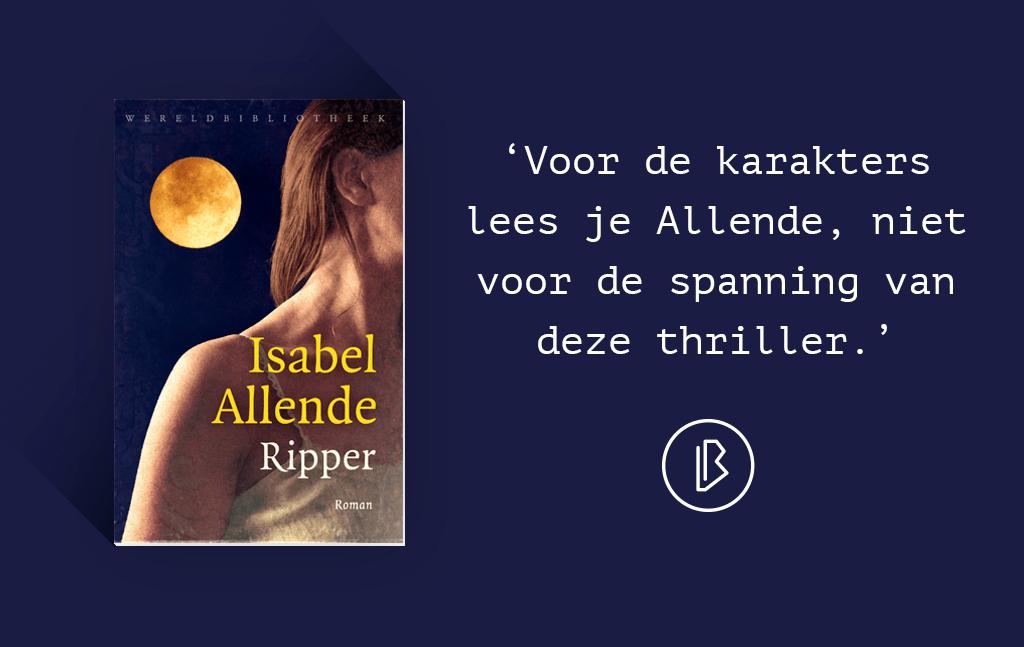 Recensie: Isabelle Allende – Ripper