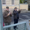 Wim and Robbert being tourist