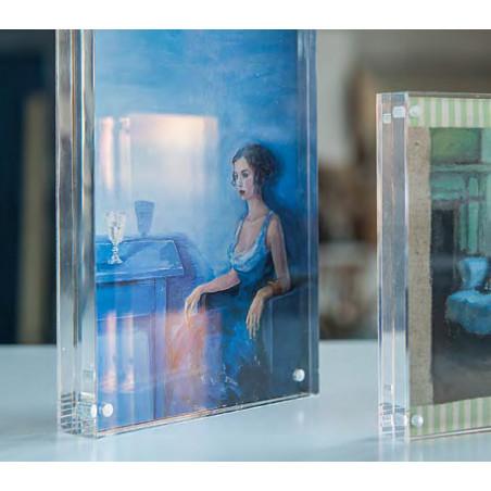 cadre sous verre acrylique transparent