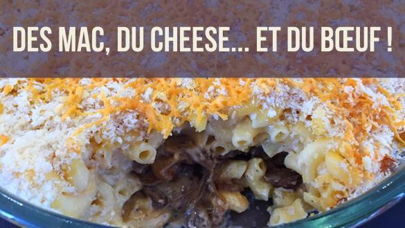 Image de presentation de la recette des mac and cheese au boeuf