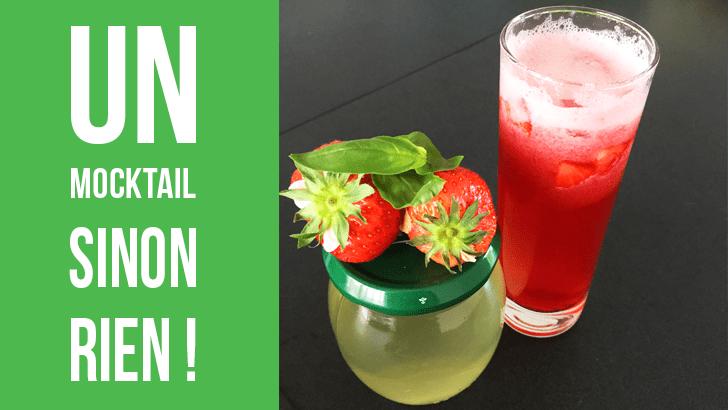 Mocktail hibiscus, fraises et basilic pour la Bataille Food #45