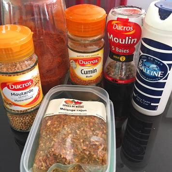 Mélange d'épices pour la marinade sèche des ribs