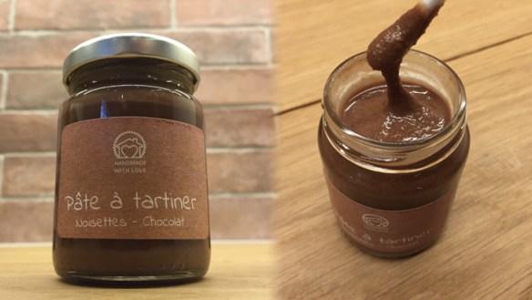 Pâte à tartiner chocolat noisette inspirée par la recette de Michalak