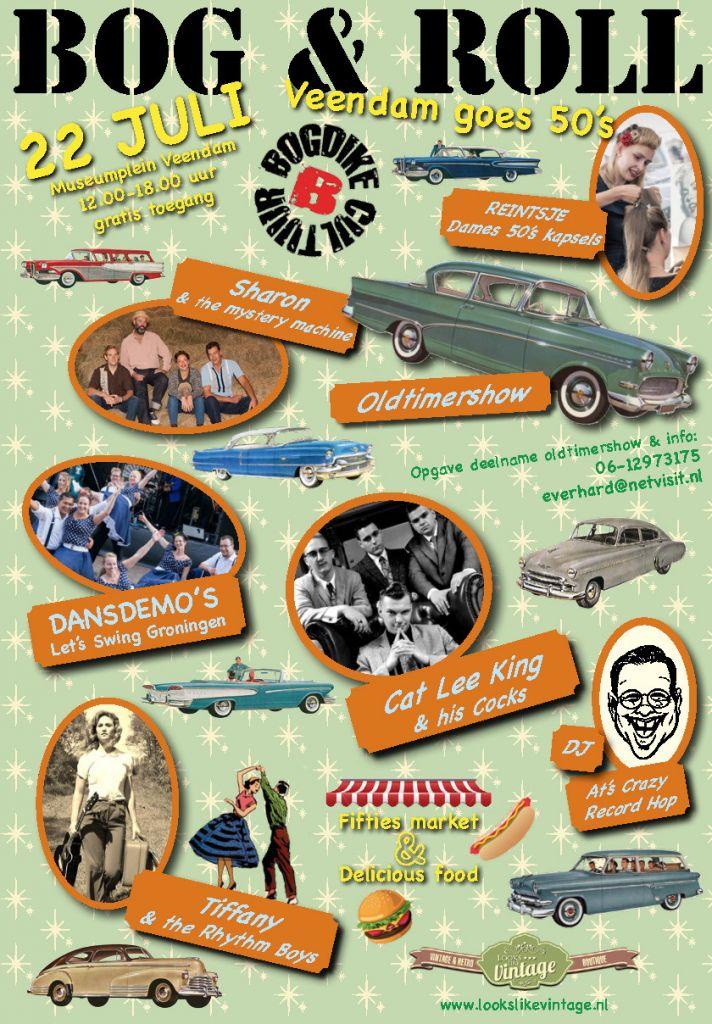 Bog & Roll Veendam goes 50's op zaterdag 22 juli 2017