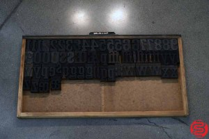 Assorted Letterpress Wood Type - 052919111058
