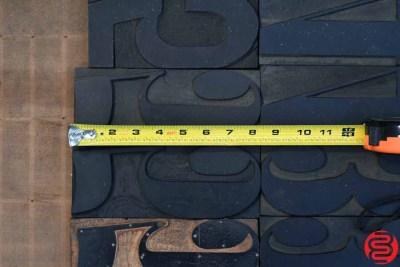 Assorted Letterpress Wood Type - 053119111742