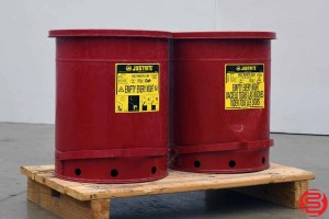 Justrite Oily Waste Can - Qty 2 - 092719095900