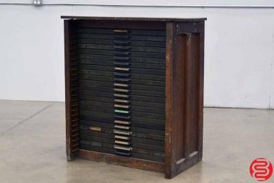Hamilton Letterpress Type Cabinet - 24 Drawers - 022020041410