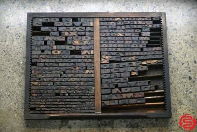 Assorted Letterpress Wood Type - 022120013450