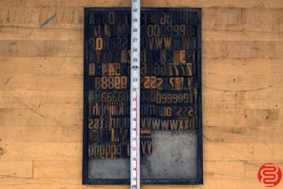Assorted Letterpress Wood Type - 022120013720